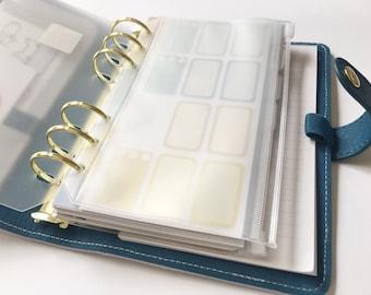 Clear PVC Zip Pocket for A5 & Personal Planner | Filofax, Kikki.k , Kate Spade