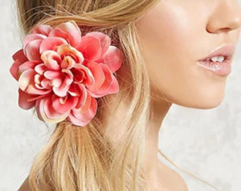 Hair Flower Pin Accessory for Casual Prom Party Wedding Summer Birthday Gift Vacation Hairstyles Updo Floral Hair Pin