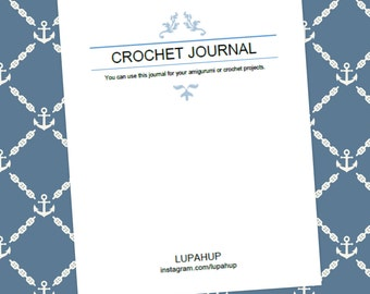 Crochet Journal and Organizer