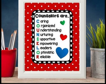 Counselors Are, Printable Quote Poster, School Counselor Gifts, Guidance Counselor Office, Counseling Office, School Counseling Office Decor