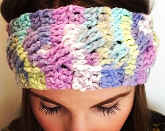 Cable Crochet Headband