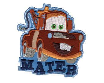 Mater Tow Truck Iron On Applique, Genuine Disney Iron On Patch, Cars Pixar Patch, Mater Applique, Disney Applique, Kids Patch