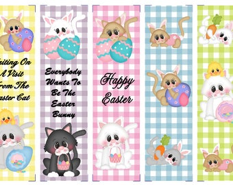 Easter Cats Book Marks