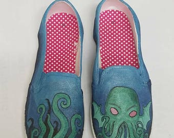 Cthulhu Custom Canvas Shoes