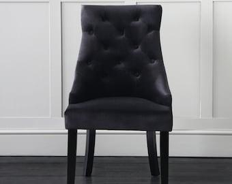 Oscar Velvet Dining Chair (Black)
