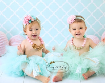 cake smash outfit, girls first birthday outfit, cake smash, outfit girl, cake smash props, first birthday, birthday tutu, chunky necklace