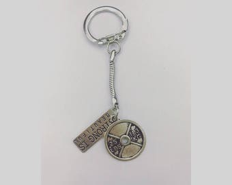 Strong is beautiful fitness motivation keyring