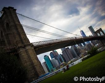 Brooklyn Bridge & NYC Skyline Custom Photo