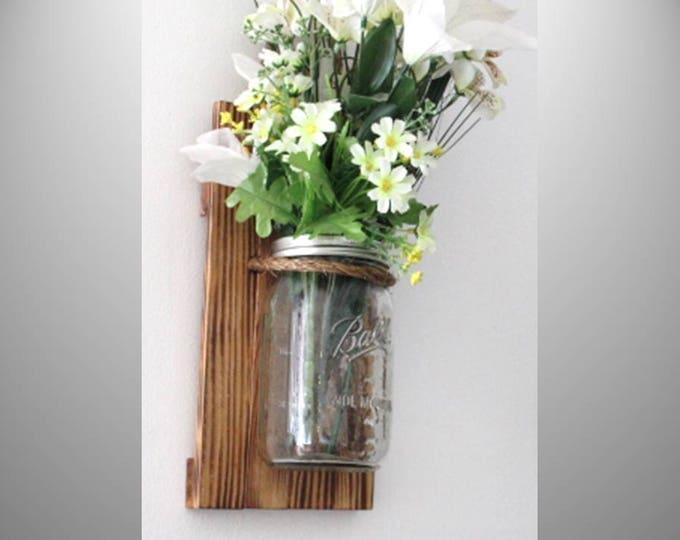 Mason Jar Wall Sconce Clear Quart
