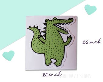 Crocodile Vinyl Sticker - Fun Laptop Stickers - Water Resistant Vinyl Stickers - UV Resistant