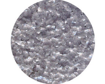 Metallic Silver Edible Glitter FLAKES 1/4 Ounce