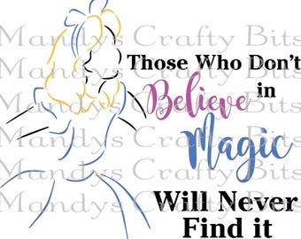 Digital FileSVG Alice in Wonderland Believe in Magic
