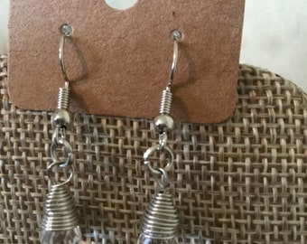Clear Sparkly Dangle Earrings