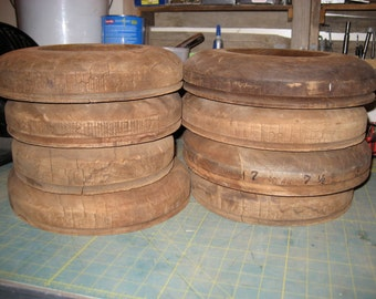 8 Assorted Antique Flanges in Styles 86, 17, 24, and 11-- Millinery (Hat Making) Tool-- (Box 31)
