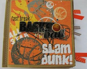 Basketball Paperbag Scrapbook