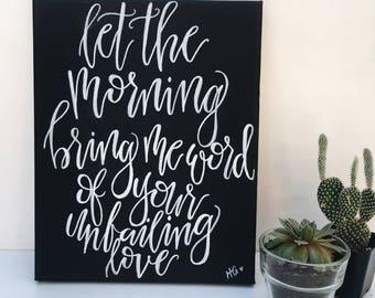 Unfailing Love Canvas