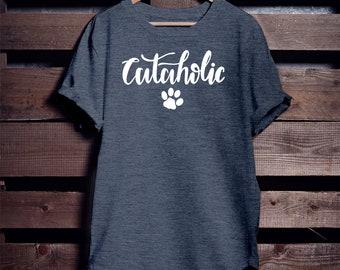 Cataholic T-shirt, Cat Shirt, Cat Lady, Cat Parents