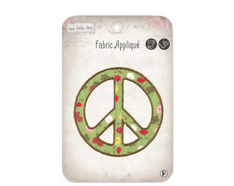 Peace Sew On Applique, Peace Sew-On Patch, Peace Sign Patch, Fun Patch, Embroidered Patch