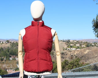 Red Down Puffy Vest (Vintage / 90s)