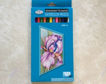CLEARANCE Essentials Watercolor Pencils ~ Standard/Basic Colors Set of 12 ~ Royal Langnickel