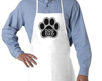 """Embroidered """"Dog Dad"""" apron"""