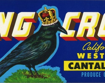 King Crow Cantalope crate label