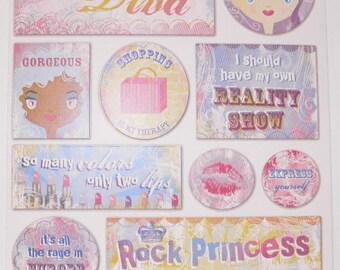 ON SALE  Make Up Diva Stickers