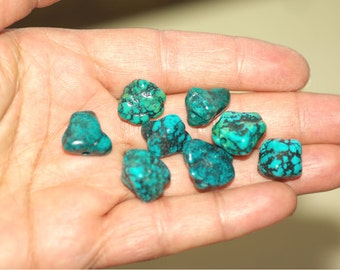 Free Form Turquoise Beads - Genuine Natural Blue Turquoise Raw Shape Polished Loose Beads