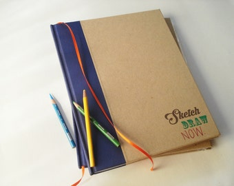 Oversized Sketchbook for Artists · Inspirational Art Notebook · Gift for Artists · Gift for Illustrators · Art Sketchbook· Art Journal Diary