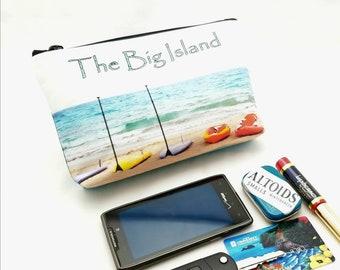 "9"" x 5"" - SUP Gadget Bag - zipper pouch - Bag organizer -  Kayak - Hawaii - Ready to Ship"