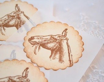 Horse Stickers Envelope Seals Set of 10