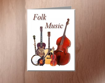 Folk Music Note Cards
