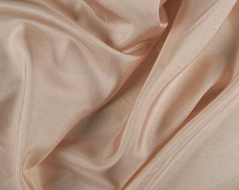 "45"" Wide 100% Silk Habotai Pale Peach-Wholesale by the Yard (2000M106)"