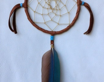 Dreamcatcher with Macaw Feather