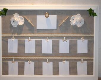 plan de table mariage, taupe et blanc ,orchidées,mariage champêtre chic nature