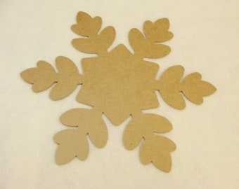Huge Chipboard Snowflake 12 Inches