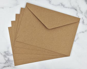 C5 Invitation Envelopes in Buffalo Kraft 229mmX162mm to Fit A5  Made in Australia