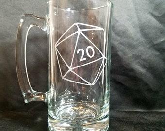 D20 Etched Mug