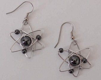 Big Bang Theory Atom Earrings Geek Gift