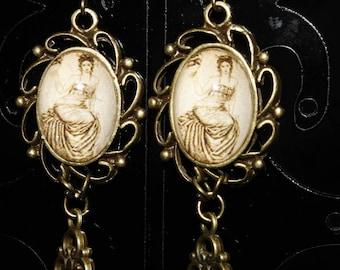 Retro art nouveau earrings