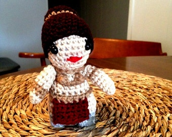 Slave Princess Leia Inspired Amigurumi doll- MADE to ORDER- Crochet Star Wars Inspired dolls