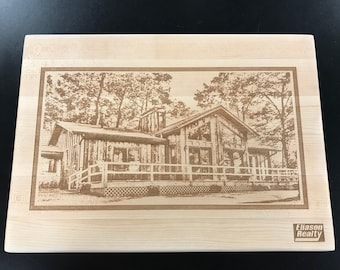 Cutting board gift package for realtors, etc.