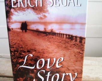 Love Story, Erich Segal, Vintage Love Story Book, 1970 Book, Vintage Hardcover Book, Vintage Fiction Book