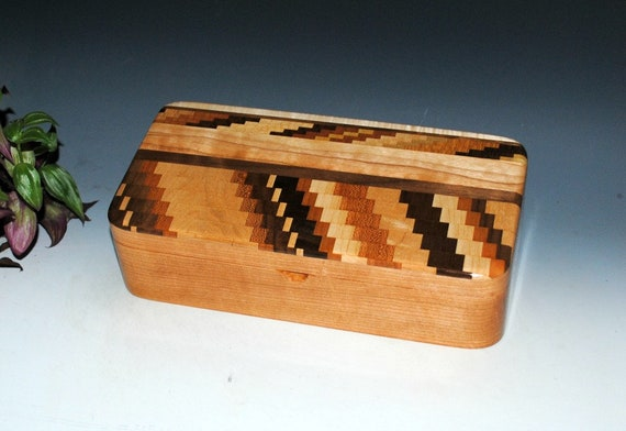 Wooden Box - Handmade Wood Box -Upcycled Cutting Board & Cherry Box With Tray - Wood Box - Jewelry Box - Stash Box, Gift Box, Keepsake Box