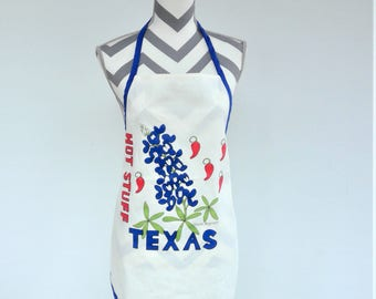 Vintage Hot Stuff Texas Cramer Designs 1987 Full Apron - NOS