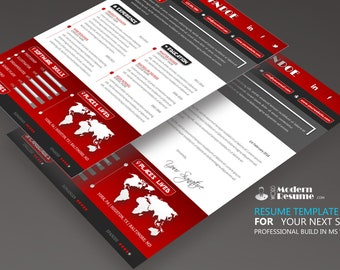 Resume Template / CV Template + Cover Letter | Instant Digital Download | MS Word | 100% Customizable