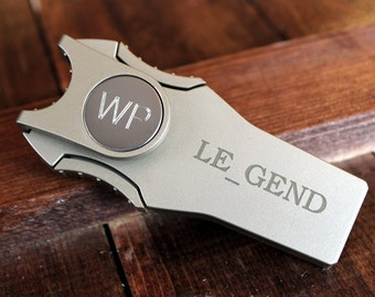 Gentleman's Vice 5 in 1 Cigar Cutter with Divot Repair Tool in Gold - Personalized w/ Initials, Monogram, Logo or Graphic - Groomsmen Gift