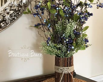 Vases Stick Flowers Vase Kitchen Decor Rustic Home Centerpiece Farmhouse Table Wedding Country Woodland New Home Gift Mothers Day Bouquet