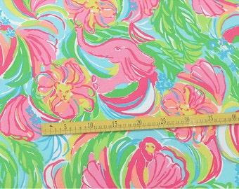 """1 YARD 36"""" X 49.5"""" Lilly Pulitzer Silk Fabric So a Peeling"""