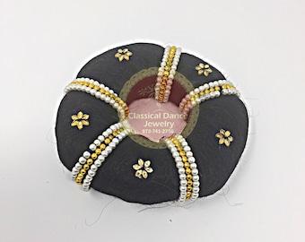 Large Hair Band Ring/Bun/donut for Rakodi Jewelry for Bharatanatyam/Kuchipudi Dance/ Weddings and Events